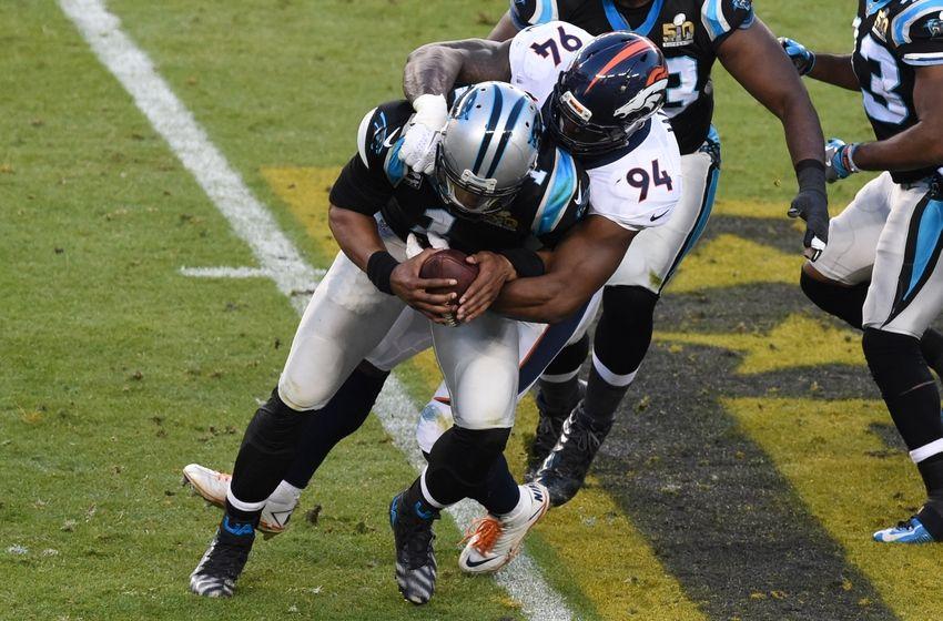 Cam Newton reacts to Carolina Panthers' Super Bowl defeat