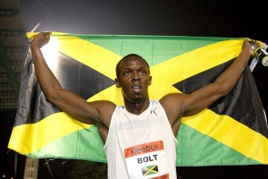 Bolt ran 200 meters in 19 seconds in Beijing.