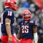 Dec. 15, 2012; Albuquerque, NM, USA; Arizona Wildcats running back Ka