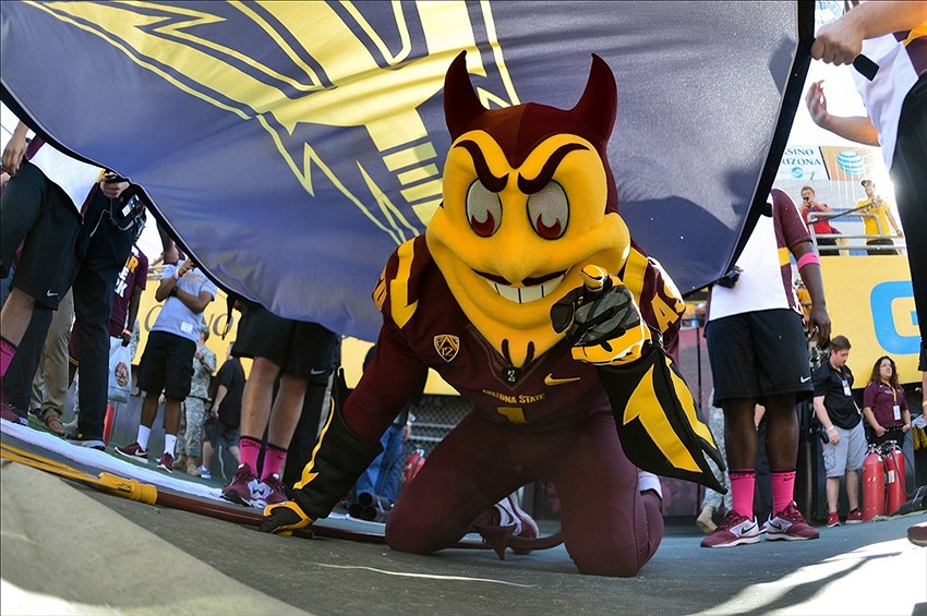 Sparky rolling into the stadium during the 2013 season