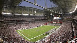 Unversity of Phoenix Stadium in Glendale, Ariz., site of the Tostitos Fiesta Bowl.