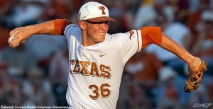 Right-handed starter Nathan Thornhill of Texas has an 0.91 ERA in his last five starts.