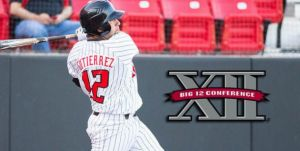 Texas Tech first baseman Eric Gutierrez, the team's best hitter with a .312 batting average, 12 home runs and 58 RBI this season.