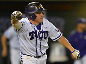 Boomer White and his TCU Horned Frogs are making their second appearance in the College World Series. Their first appearance was in 2010.