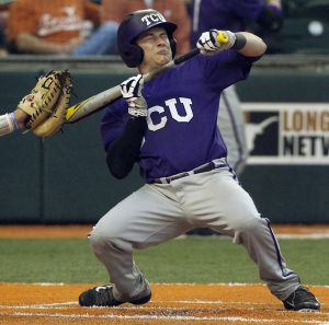 TCU catcher Kyle Bacak laid down a suicide bunt in the ninth inning against Pepperdine that scored Jerrick Suiter with wht proved to be the winning run in a 6-5 TCU victory in the Ft. Worth Super Regional. The win sends TCU to the College World Series for the second time in program history.