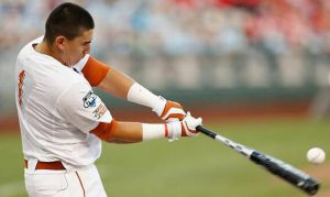 Texas freshman catcher Tres Barerra hit 25 home runs in the final round of the 2014 TD Ameritrade College Home Run Derby to defeat his high-school teammate and Texas Tech third baseman Eric Gutierrez, who had 18 of his own in the final round and a record total of 52 for the competition.