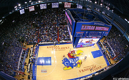 ... Fieldhouse, home of the Kansas Jayhawks for the past six decades