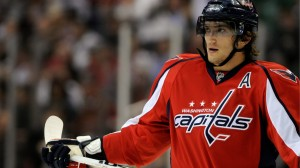 Alex Ovechkin (Above) finished with 2 goals and an assist.
