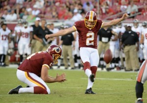 Jason Potter (Above) made three of four field goal attempts in Kai Forbath's absence.