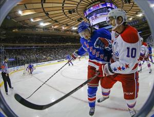 Erat being slammed into the boards against the Rangers. Adam Hunger-USA TODAY Sports