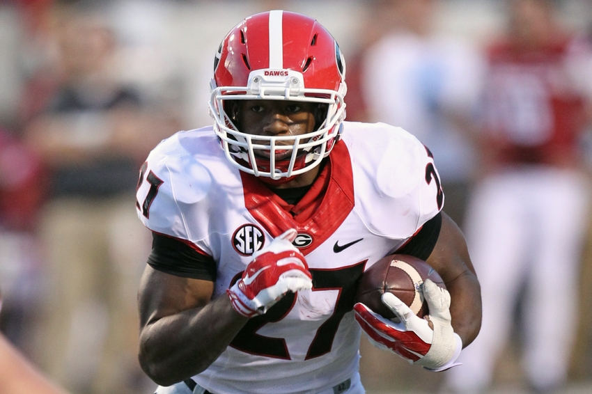 Nick-chubb-ncaa-football-georgia-arkansas