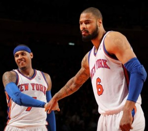 carmelo anthony tyson chandler knicks 2012