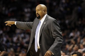Nov 8, 2013; Charlotte, NC, USA; New York Knicks head coach Mike Woodson during the game against the Charlotte Bobcats at Time Warner Cable Arena. Mandatory Credit: Sam Sharpe-USA TODAY Sports
