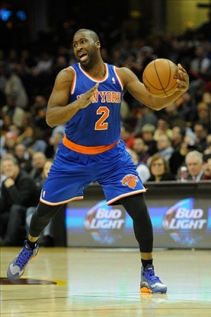 Dec 10, 2013; Cleveland, OH, USA; New York Knicks point guard Raymond Felton during a game against the Cleveland Cavaliers at Quicken Loans Arena. Cleveland won 109-94. Mandatory Credit: David Richard-USA TODAY Sports