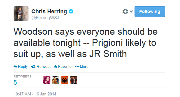 smith prigs tweet