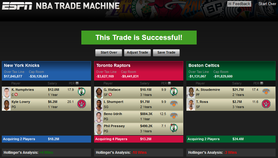 knicks celtics raptors trade 2