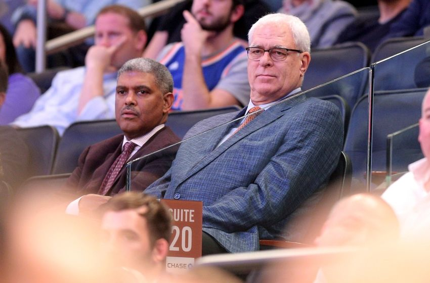Nov 9, 2016; New York, NY, USA; New York Knicks general manager Phil Jackson watches during the third quarter between the New York Knicks and the Brooklyn Nets at Madison Square Garden. Mandatory Credit: Brad Penner-USA TODAY Sports