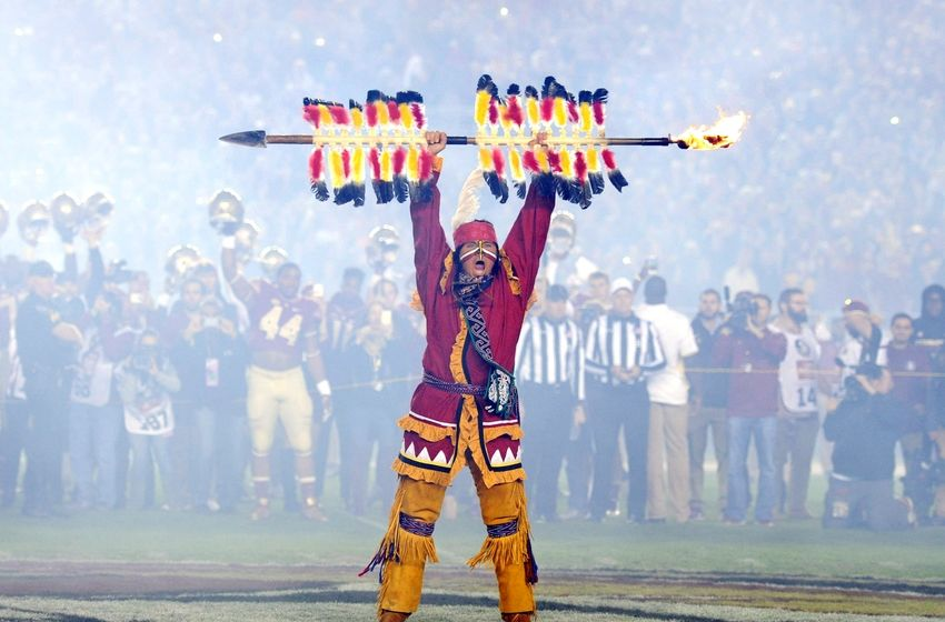 Nov 26, 2016; Tallahassee, FL, USA;  Florida State Seminoles Chief Osceola holds his spear above his head before the game against the Florida Gators at Doak Campbell Stadium. Mandatory Credit: Melina Vastola-USA TODAY Sports