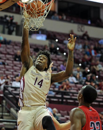 Dec 19, 2016; Tallahassee, FL, USA; Florida State Seminoles guard Terance Mann (14) dunks the ball during the second half of the game against the Samford Bulldogs at the Donald L. Tucker Center. Mandatory Credit: Melina Vastola-USA TODAY Sports