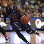 March 8, 2013; Las Vegas, NV, USA; Loyola Marymount Lions guard Taylor Walker (0) dribbles against the Santa Clara Broncos during the second half in the quarterfinals of the West Coast Conference tournament at Orleans Arena. Mandatory Credit: Kyle Terada-USA TODAY Sports