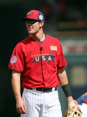 Jul 13, 2014; Minneapolis, MN, USA; USA infielder Kris Bryant before the All Star Futures Game at Target Field. Mandatory Credit: Jerry Lai-USA TODAY Sports