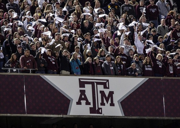 Nov 2, 2013; College Station, TX, USA; Texas A