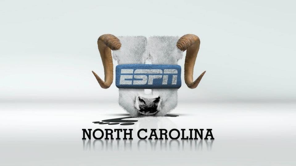 North Carolina ESPNU logo