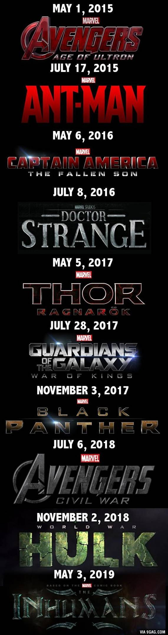 Marvel Phase 3 Movies