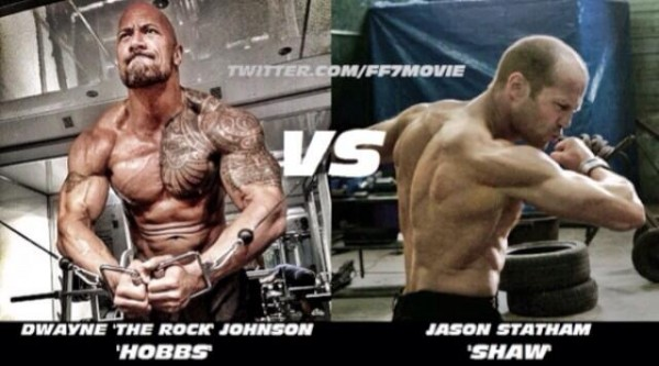 Admirable Fast 7 Dwayne Johnson Shows Off New Images Teases Fight With Hairstyles For Men Maxibearus
