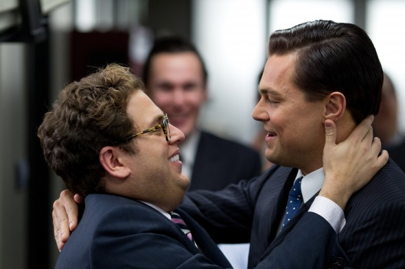 Left to right: Jonah Hill plays Danny and Leonardo DiCaprio plays Jordan Belfort in THE WOLF OF WALL STREET, from Paramount Pictures and Red Granite Pictures.