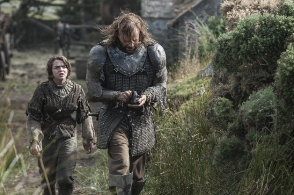 Maisie-Williams-as-Arya-Stark-Rory-McCann-as-Sandor-The-Hound-Clegane_photo-Helen-Sloan_HBO--630x419