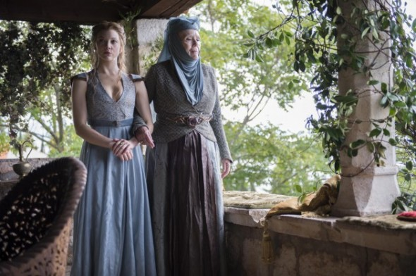 Natalie-Dormer-as-Margaery-Tyrell-Diana-Rigg-as-Olenna-Tyrell_photo-Macall-B.-Polay_HBO-630x419