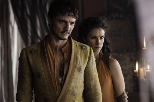 Pedro-Pascal-as-Oberyn-Martell-Indira-Varma-as-Ellaria-Sand_photo-Helen-Sloan_HBO-630x419