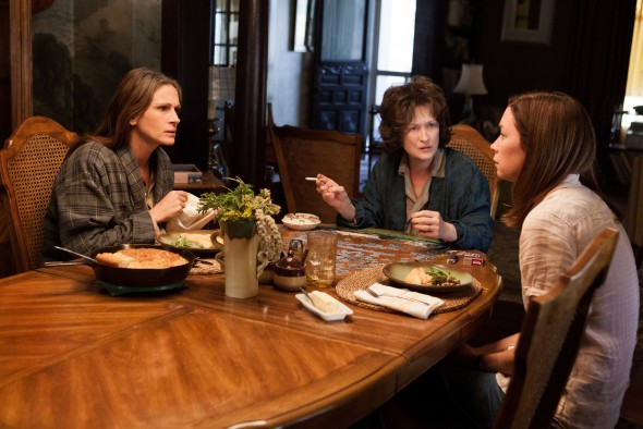 (L-R) JULIA ROBERTS, MERYL STREEP and JULIANNE NICHOLSON star in AUGUST: OSAGE COUNTY