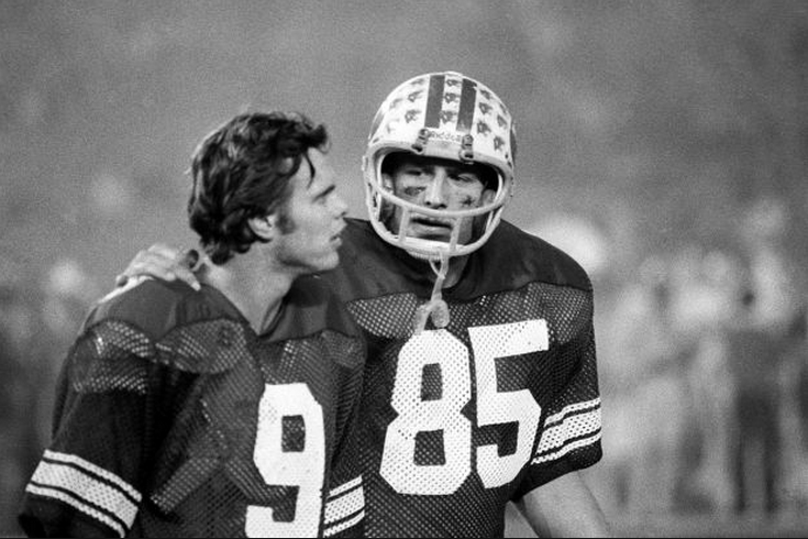 Jim McMahon and Clay Brown during the 1980 Holiday Bowl - Photo Credit: Daily Herald