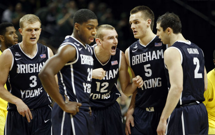 BYU basketball team loses at Oregon in Eugene, 100-96 in Overtime. Photo Credit: Daily Herald
