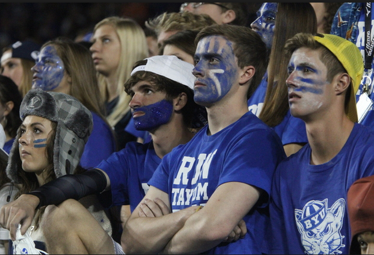 BYU fans watch as BYU loses to Utah 20-13 at LaVell Edwards Stadium (9/21/13) Photo Credit: Daily Herald