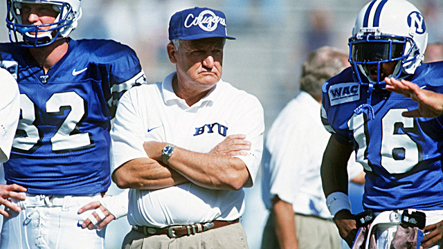 Ronney Jenkins' (right) grandmother loved BYU's Honor Code. Lavell built relations through the code. Photo: CBS Sports