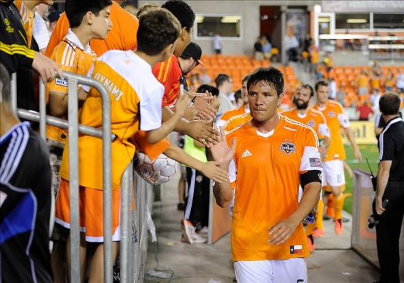 Brian Ching will look to bring the same success to the Dash as managing director that he brought to the Dynamo as a player Credit: Jerome Miron-USA TODAY Sports
