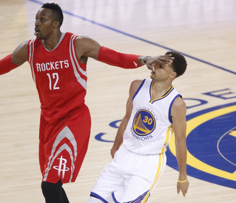Houston Rockets X Golden State Warriors: NBAP West Finals Gm 2: Rockets Crimped By Warriors 99-98
