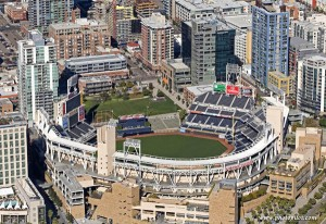 Petco Stadium getting ready for the baseball season.