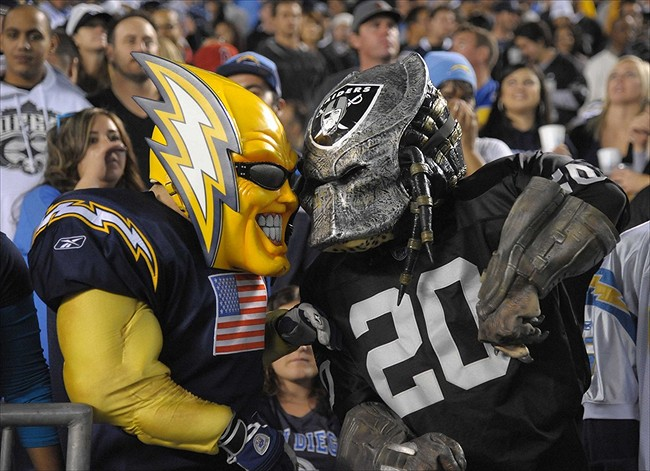 Afcw History Raiders V Chargers Bitter Rivals Face Off