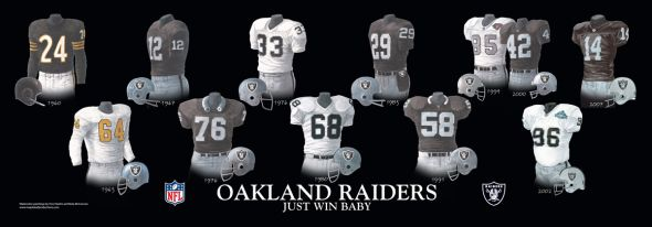 Print Oakland Raiders5.25 X 15.25