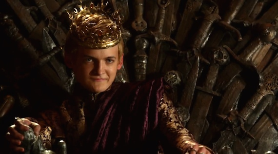 "Jack Gleeson as King Joffrey Baratheon in Season 2 Episode 9 of ""Game of Thrones"" entitled ""Blackwater."" Photo Credit: HBO"