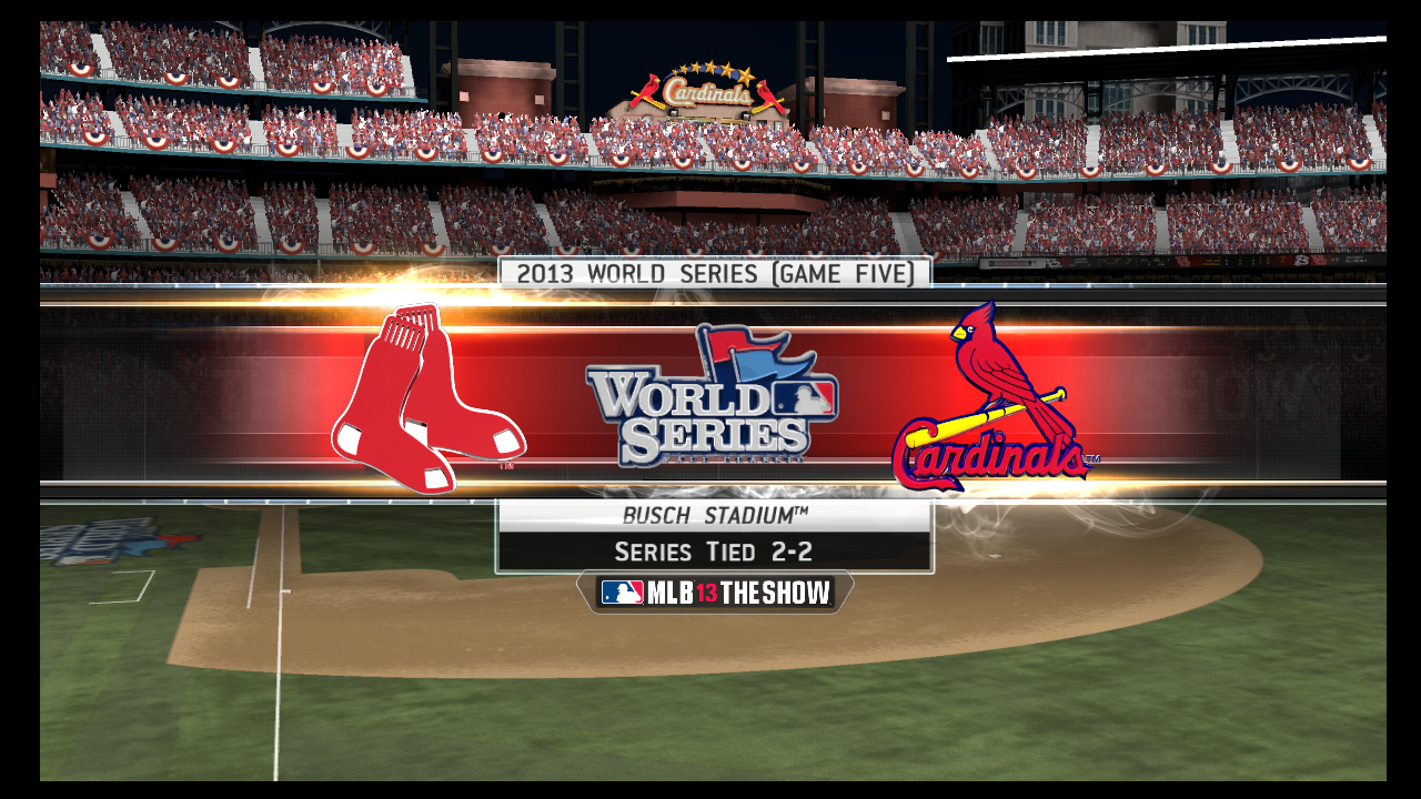 mlb 13 the show game 5 cardinals red sox