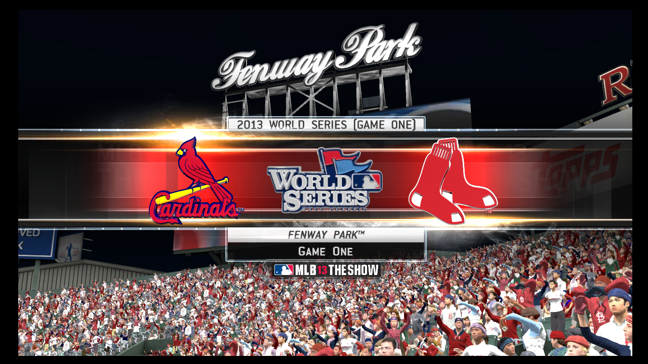 mlb 13 the show cardinals red sox game 1 world series simulation