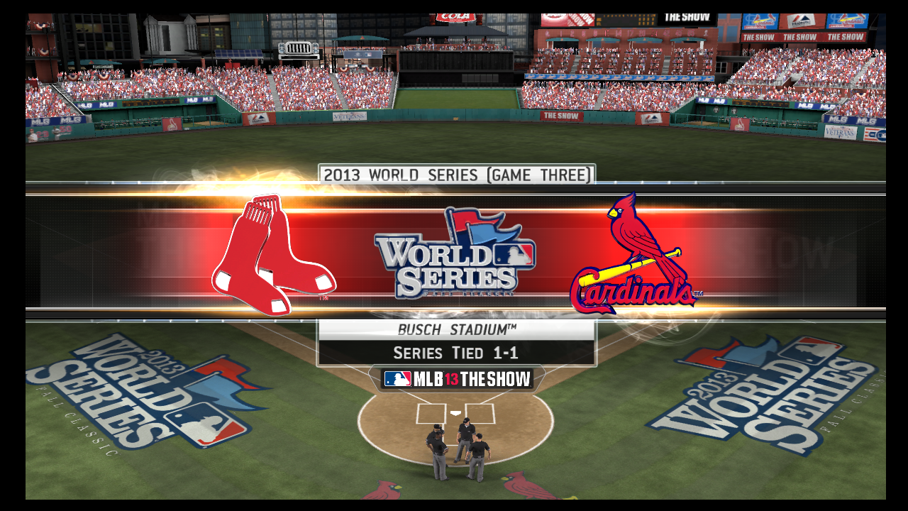 mlb 13 the show world series banner game 3