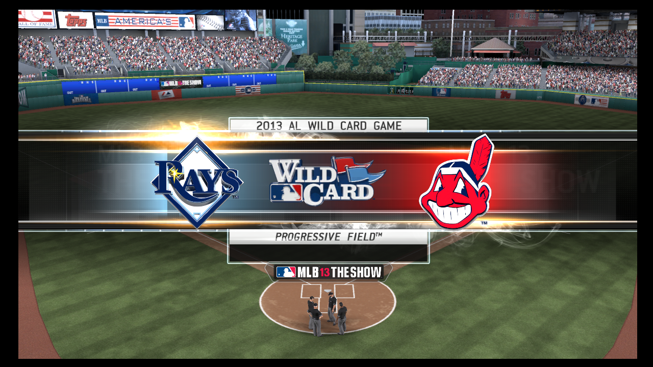 mlb 13 the show al wildcard rays indians playoffs