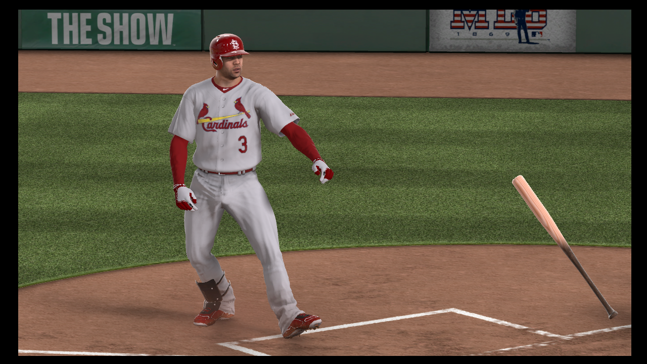 carlos beltran bat flip mlb 13 the show