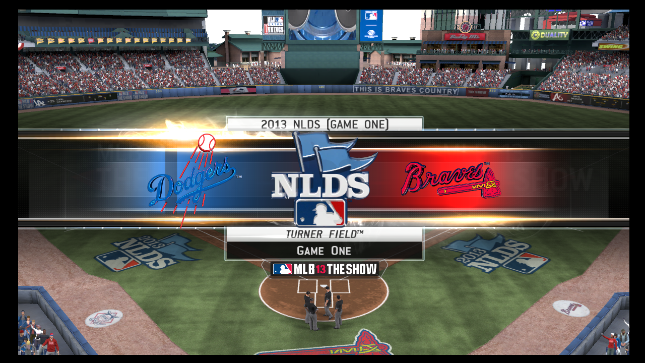 dodgers vs braves nlds mlb 13 the show series simulation